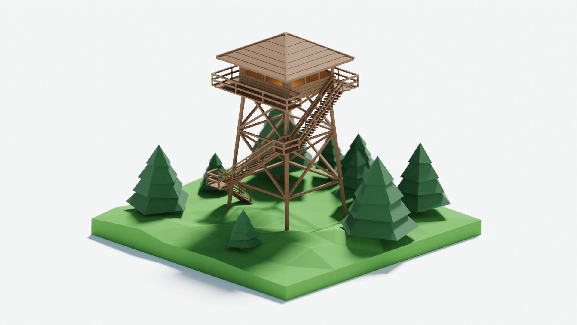 Firewatch tower - náhled